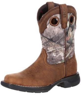 Rocky Unisex RKW0166 Western Boot Distressed Brown/camo 7 M US Big Kid