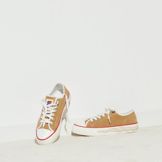 Sandro Suede sneakers with flame sole