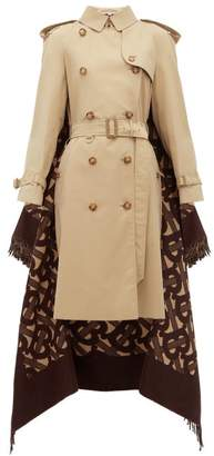 Burberry Tb Wool-blend And Cotton Trench Coat - Womens - Beige