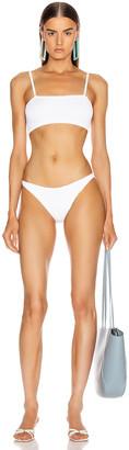 Hunza G Gigi Bikini in White   FWRD