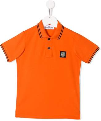Stone Island Junior striped detail polo shirt