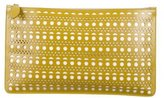 Alaia Laser Cut Leather Clutch