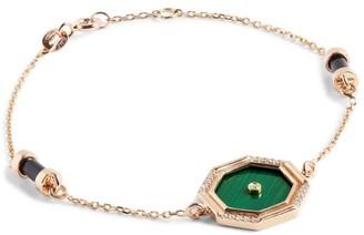 L'ATELIER NAWBAR Rose Gold and Diamond Amulets of Light Bracelet