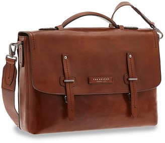 The Bridge Kallio Genuine Leather Top-Handle Men's Briefcase w/Laptop&Tablet Compartments