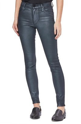 Paige Transcend Hoxton High Waist Coated Skinny Jeans