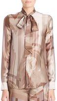 Ralph Lauren Sheryl Printed Silk Blouse