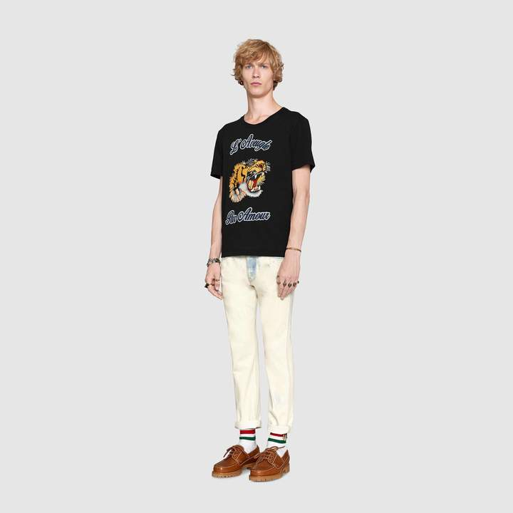 Gucci Cotton T-shirt with embroideries