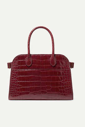 The Row Margaux 10 Buckled Alligator Tote - Burgundy