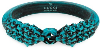 Gucci Tiger head resin bracelet