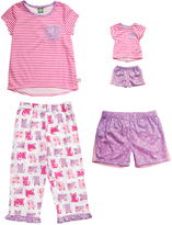 Dollie & Me Pink & Purple Cat Pajama Set & Doll Outfit - Girls