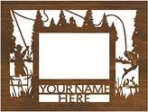 """Designer Stencils Personalized 9"""" x 12"""" Fishing Scenic Wood Picture Frame (4"""" x 6"""" Photo)"""
