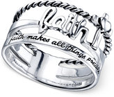 Unwritten Multi-Row Faith Ring in Sterling Silver