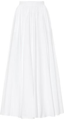 Alaia Cotton-plisse midi skirt