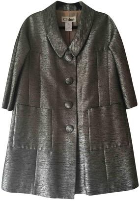 Chloé Grey Cotton Coat for Women Vintage