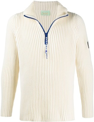 Aries Ribbed-Knit Stand-Up Jumper