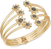 INC International Concepts Crystal Star Hinged Cuff Bracelet, Created for Macy's