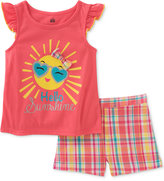 Kids Headquarters 2-Pc. Hello Sunshine Top & Shorts Set, Baby Girls (0-24 months)