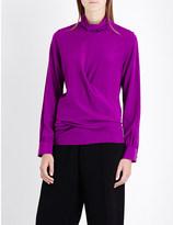 Victoria Beckham Turtleneck silk blouse