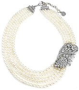 Ben-Amun Women's Faux Pearl Statement Necklace