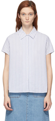 A.P.C. Blue Marina Short Sleeve Shirt