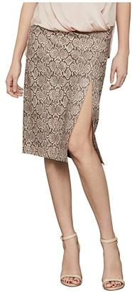 BCBGMAXAZRIA Python Knit Pencil Skirt (Bare Pink Combo) Women's Skirt