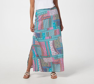 Tolani Collection Regular Printed Pull-On Woven Maxi Skirt