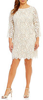 Jessica Howard Plus Bell-Sleeve Lace Dress