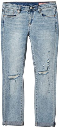 Blank NYC Kids Blue Denim Skinny with Rips At Knee in On the Edge (Big Kids) (On The Edge) Girl's Jeans