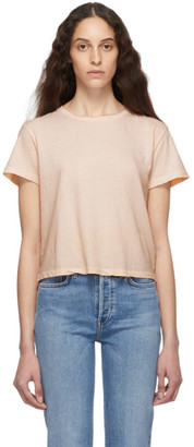 RE/DONE Pink The 70s Rolled Sleeve T-Shirt