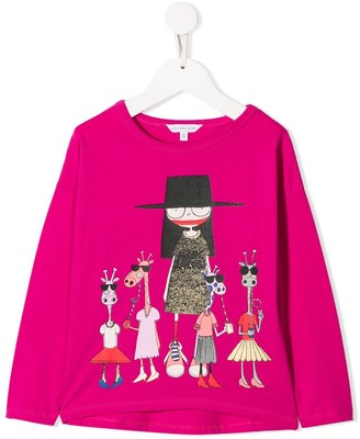 Little Marc Jacobs Miss Marc long-sleeved T-shirt