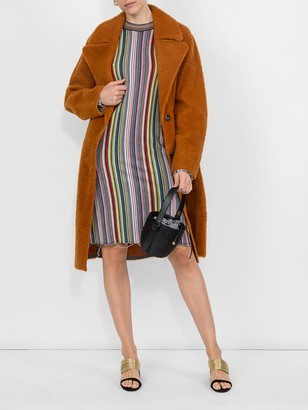 Marques Almeida Marques'Almeida long sleeve striped wool dress
