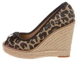 Tory Burch Jackie Canvas Espadrille Wedges