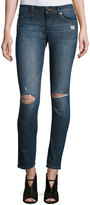 DL1961 Premium Denim Skinny Distressed Denim Jeans, Blue/Heath