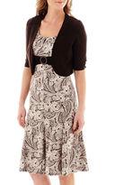 JCPenney Perceptions 2-pc. Elbow-Sleeve Paisley Print Knit Jacket Dress