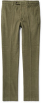 Officine Generale Paul Garment-dyed Cotton-corduroy Trousers - Army green