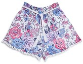 Ella Moss Girls' Floral Print Shorts - Sizes 7-14
