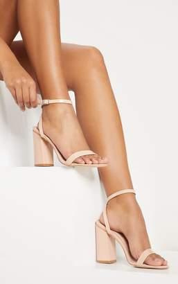 PrettyLittleThing Gold Ankle Strap Block Heel