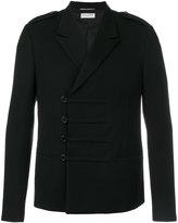 Saint Laurent military short coat - men - Silk/Cotton/Wool - 48