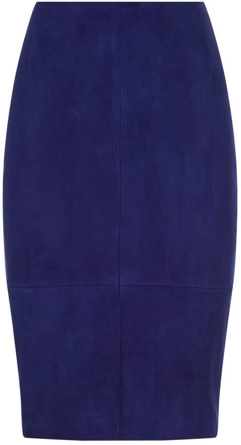 Akris Suede Pencil Skirt