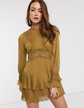 ASOS DESIGN mini dress with lace detail