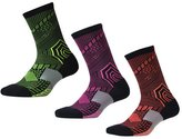 Panegy Men's Cotton Breathable Basketball Crew Sock Pack of 3