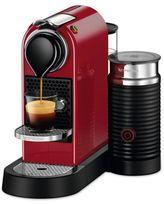 Nespresso Citiz Espresso Maker with Aeroccino3 Milk Frother in Red