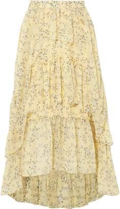 Ulla Johnson Tiered Printed Silk-georgette Midi Skirt