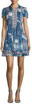 Diane von Furstenberg Marisa Beads-Print Babydoll Dress