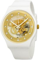 Swatch Women's Originals SUOZ148 Silicone Swiss Quartz Watch