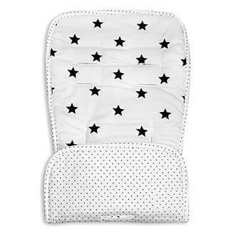 Minene Reversible Pushchair Liner, Cream and Black Stars