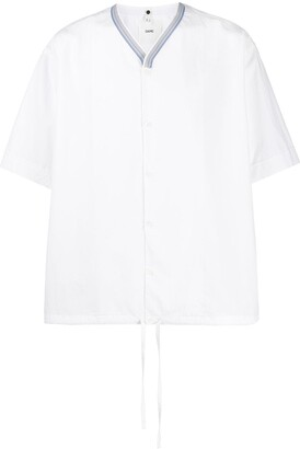Oamc Asylum striped collar shirt