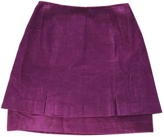 Christian Lacroix Burgundy Cotton Skirt for Women