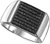Macy's Men's Black Diamond (3/4 ct. t.w.) Ring in Sterling Silver