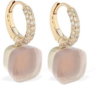 Pomellato Nudo 18kt Earrings W/ Quartz & Diamond
